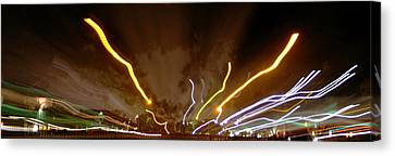 Explosion Of Lights Canvas Print by Gary Brandes