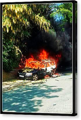 Explosive Car Bomb Canvas Print by Doc Braham