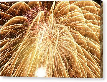 Pyrotechnic Canvas Print - Explosive Entertainment - Ventura County Fair by Soli Deo Gloria Wilderness And Wildlife Photography