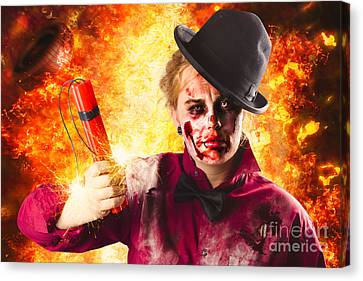 Explosive Terror. The Wraith Of Hell Fire Canvas Print