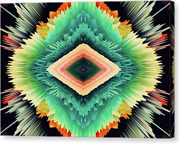 Generative Canvas Print - Exponential Flare by Colleen Taylor