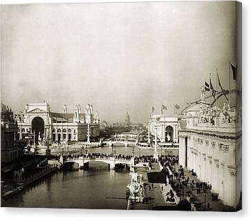 Exposition Grounds At The 1893 Worlds Canvas Print