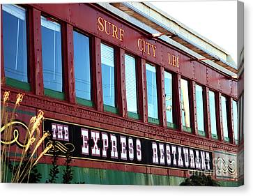 Canvas Print featuring the photograph Express Restaurant by John Rizzuto