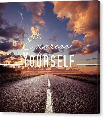 Express Yourself Canvas Print by Mark Ashkenazi