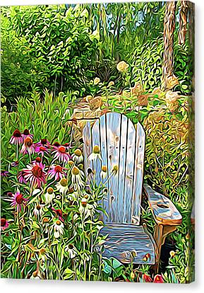 Pretty Flowers Canvas Print - Expressionalism Garden Of Paradise by Aimee L Maher Photography and Art Visit ALMGallerydotcom