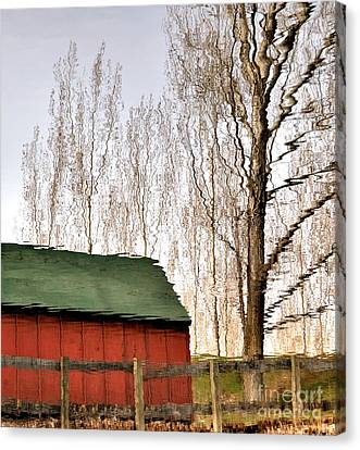 Expressionism Reflected Canvas Print by Steven Milner