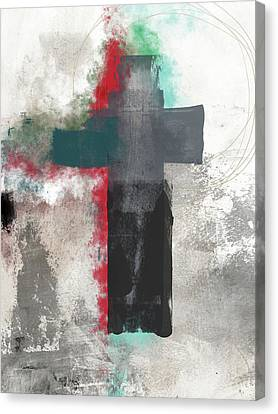 Religious Canvas Print - Expressionist Cross 4- Art By Linda Woods by Linda Woods