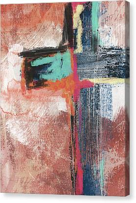 Religious Canvas Print - Expressionist Cross 5- Art By Linda Woods by Linda Woods