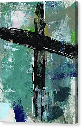 Abstract Expressionist Canvas Print - Expressionist Cross 8- Art By Linda Woods by Linda Woods