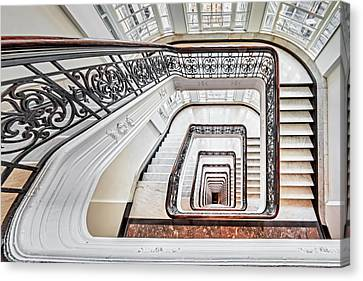 Canvas Print featuring the photograph Exquisite Staircase Nyc  by Susan Candelario