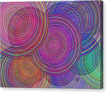 Extended Family Disagreement Join In Circles Of Confusion And Misunderstanding 1 Canvas Print by Tony Rubino