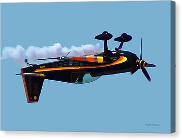 Extra 300s Stunt Plane Canvas Print by DigiArt Diaries by Vicky B Fuller
