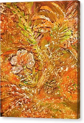 Extravaganza Orange Canvas Print by Anne-Elizabeth Whiteway