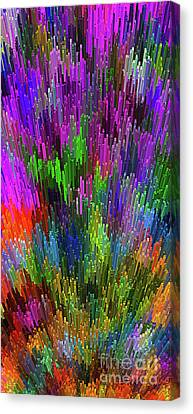 Canvas Print featuring the digital art Extruded City Of Color By Kaye Menner by Kaye Menner