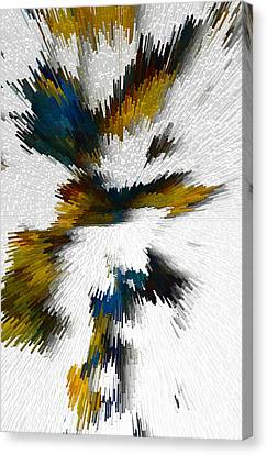 Canvas Print featuring the digital art Sculptural Series Digital Painting 612.102310extrusion by Kris Haas