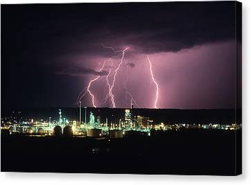 Exxon Lightning Canvas Print