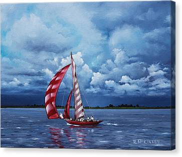 Canvas Print featuring the painting Eye Candy by Rick McKinney