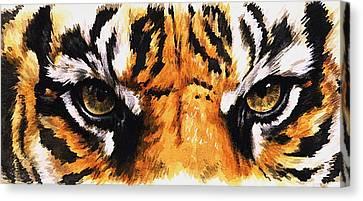 Eye-catching Sumatran Tiger Canvas Print by Barbara Keith