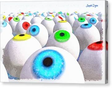 Eye Farming And Growing - Pa Canvas Print by Leonardo Digenio