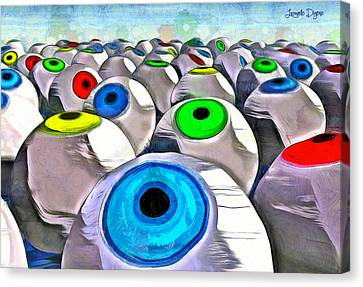 Tech Canvas Print - Eye Farming - Pa by Leonardo Digenio