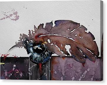 Eye Feather Canvas Print