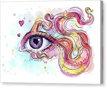Eye Fish Surreal Betta Canvas Print by Olga Shvartsur