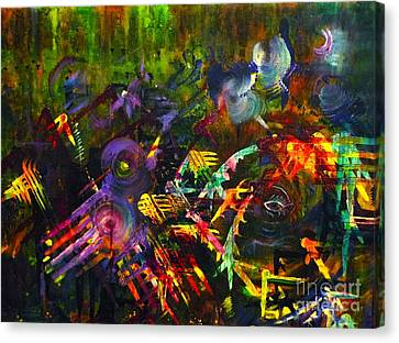 Canvas Print featuring the painting Eye In Chaos by Claire Bull