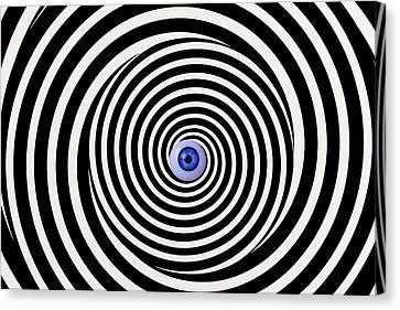 Eye In Spiral Canvas Print