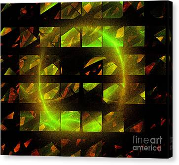 Canvas Print featuring the digital art Eye In The Window by Victoria Harrington