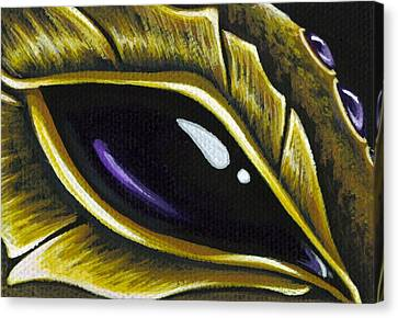 Eye Of Deep Amethyst Canvas Print by Elaina  Wagner