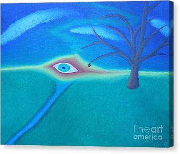 Eternal Flow Canvas Print - Eye Of God by Caleb Grow