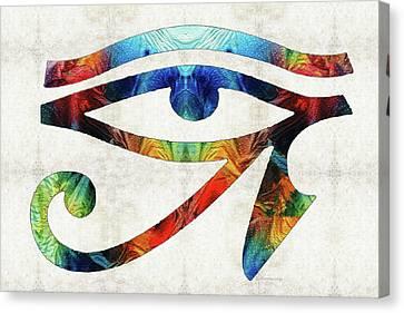 Horus Canvas Print - Eye Of Horus - By Sharon Cummings by Sharon Cummings