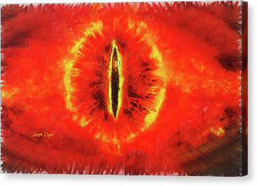 Eye Of Sauron Canvas Print by Leonardo Digenio