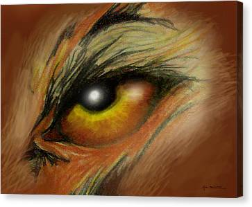 Eye Of The Beast Canvas Print by Kevin Middleton