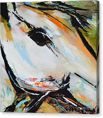 Canvas Print featuring the painting Eye Of The Beholder by Cher Devereaux