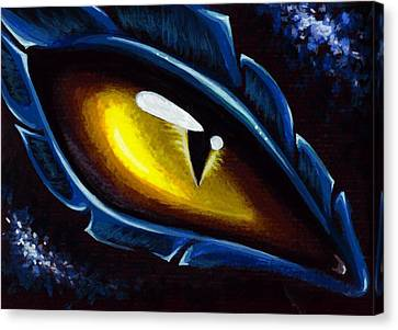 Eye Of The Blue Dragon Canvas Print by Elaina  Wagner