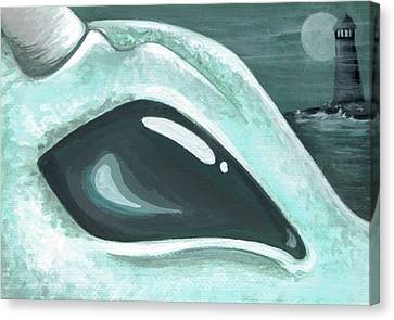 Eye Of The Coast Dragon Canvas Print by Elaina  Wagner