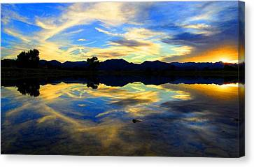 Canvas Print featuring the photograph Eye Of The Mountain by Eric Dee