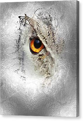 Canvas Print featuring the photograph Eye Of The Owl 1 by Fran Riley