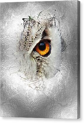 Canvas Print featuring the photograph Eye Of The Owl 2 by Fran Riley