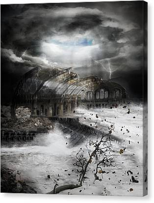 Eye Of The Storm Canvas Print by Mary Hood