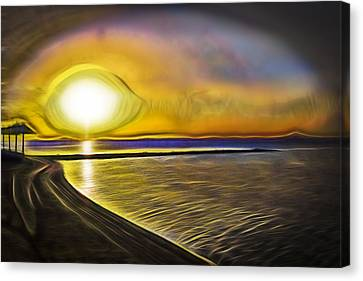 Canvas Print featuring the photograph Eye Of The Sun by Scott Carruthers