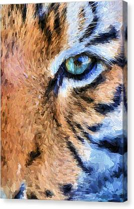 Tiger Canvas Print - Eye Of The Tiger by JC Findley