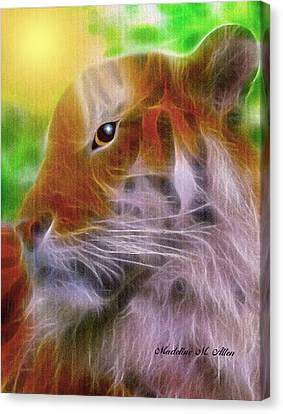 Eye Of The Tiger Canvas Print by Madeline  Allen - SmudgeArt