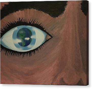 Canvas Print featuring the painting Eye Of The World by Thomas Blood