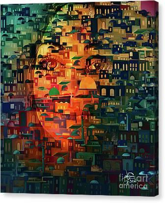 Jerusalem Canvas Print - Eye On Jerusalem by Imad Abu shtayyah