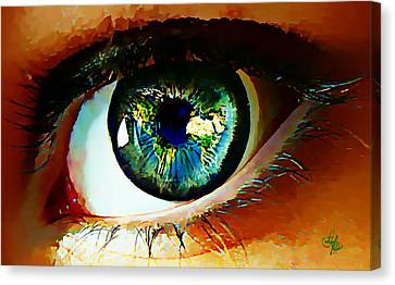 Eye On The World Canvas Print by Lynda Payton