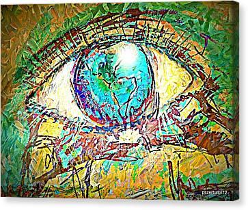 Eye Post-impressionist Canvas Print by Paulo Zerbato