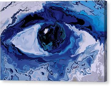 Canvas Print featuring the digital art Eye by Rabi Khan
