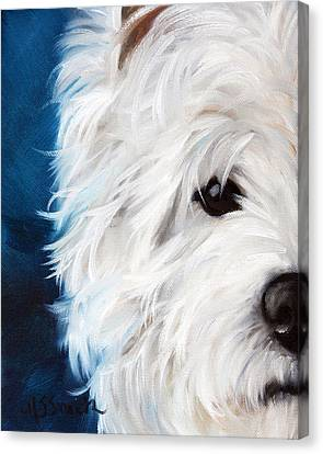 West Highland Canvas Print - Eye See You by Mary Sparrow